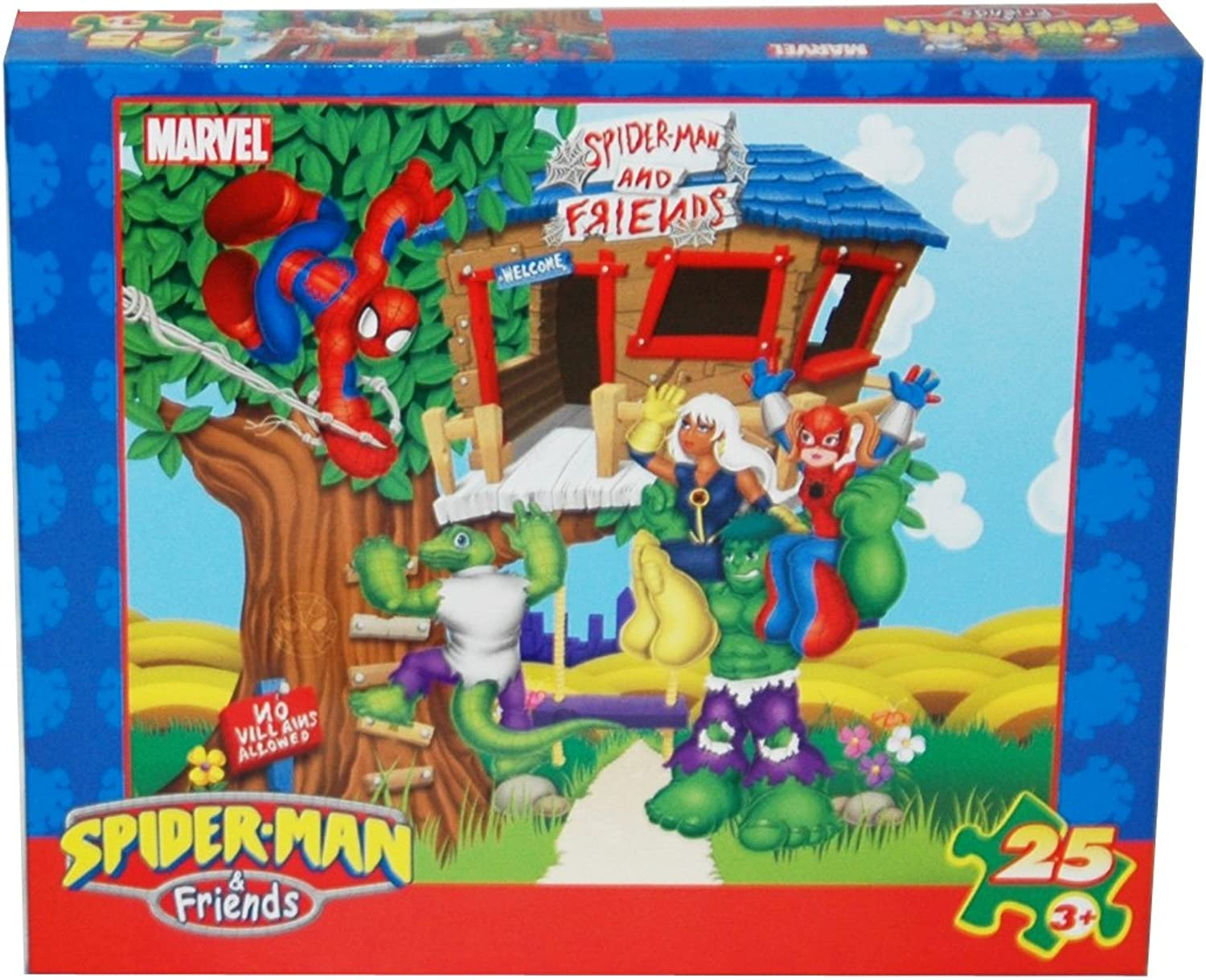 Spider-Man and Friends 25-Piece Puzzle (The Playground)