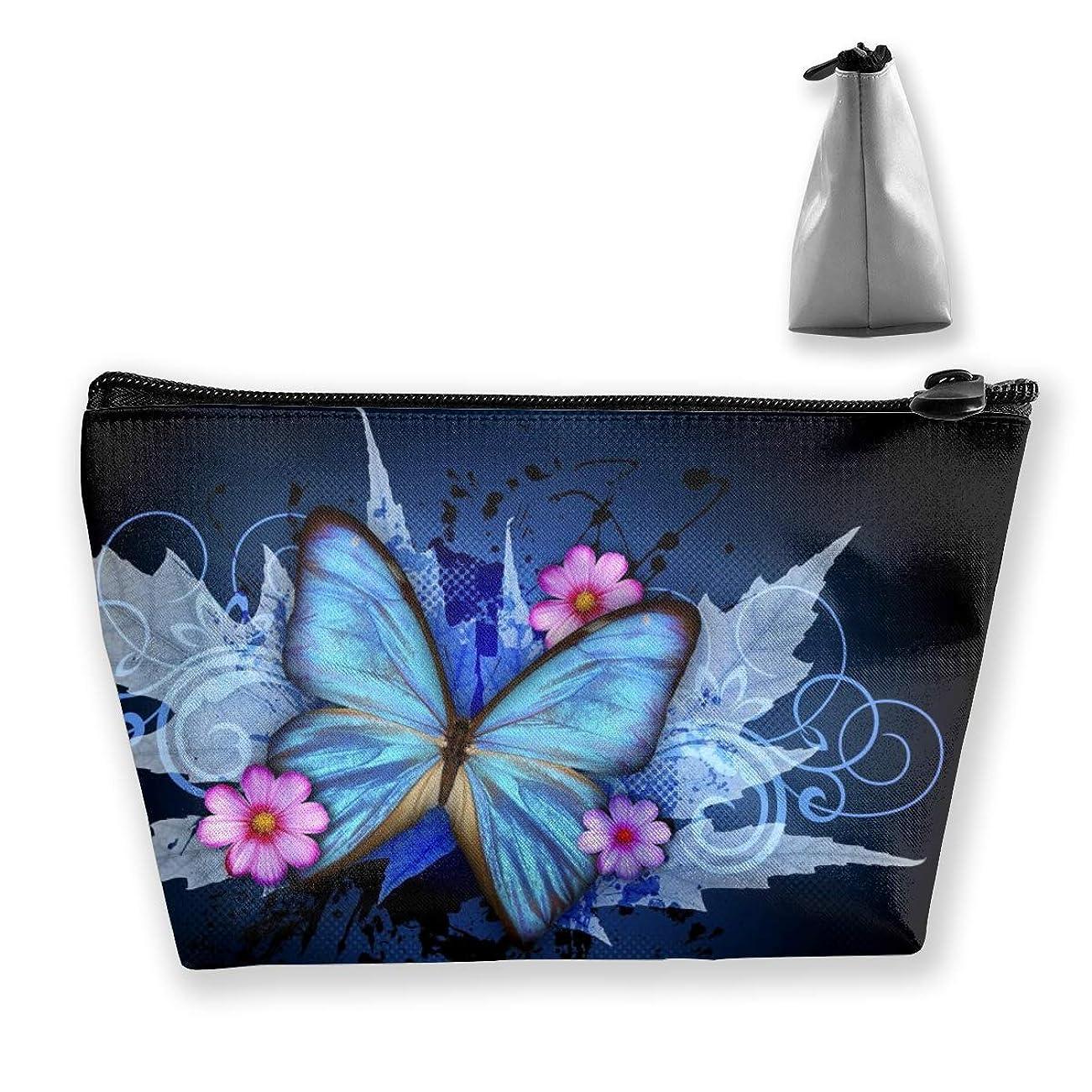 お気に入りモート許されるSzsgqkj バタフライ 化粧品袋の携帯用旅行構造の袋の洗面用品の主催者