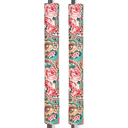 """Ougar8 Refrigerator Door Handle Covers Handmade Decor Protector for Ovens, Dishwashers.Keep Your Kitchen Appliance Clean from Smudges, Food Stains (Retro Rose, 14.5""""4"""")"""
