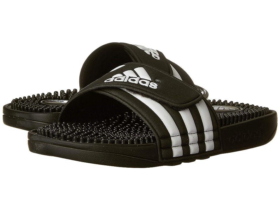 adidas Kids Adissage K Core (Toddler/Little Kid/Big Kid) (Black/White) Kids Shoes