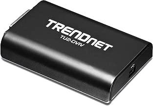 TRENDnet USB 2.0 to VGA / DVI Video Graphics Monitor Extender, For Multiple Monitors up to 1920x1080, Windows 10, 8.1, 8, 7, XP, Mac, Direct X 9 & 10, TU2-DVIV