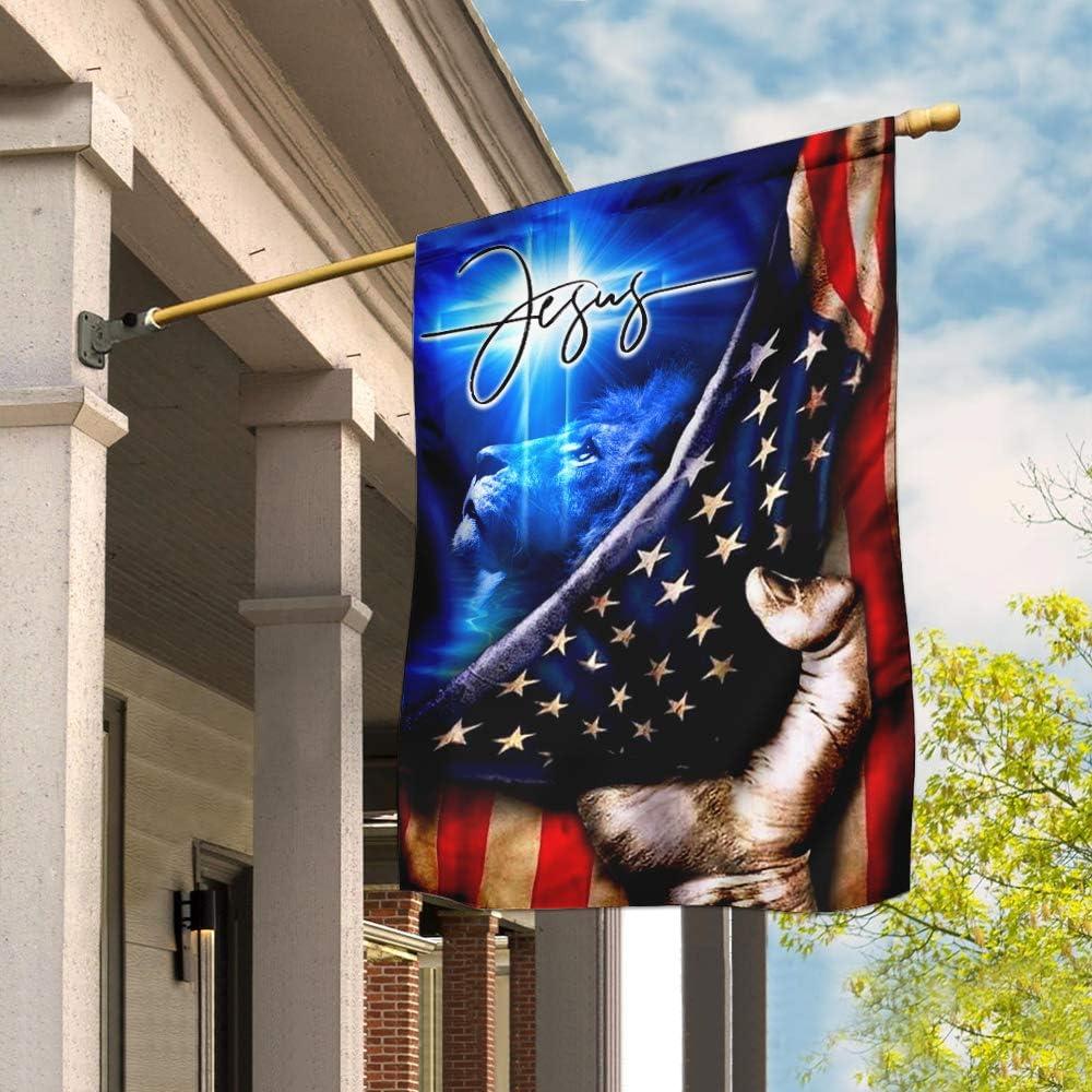 Flags-Jesus My Savior 直営限定アウトレット Christian Cross House DDH1432 最安値 Flag