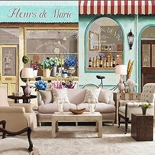 Dalxsh Custom 3D Wallpaper Paris Coffee Shop Street View Wallpaper Bedroom Mall Cafe Living Room Restaurant Custom Mural-200X140Cm
