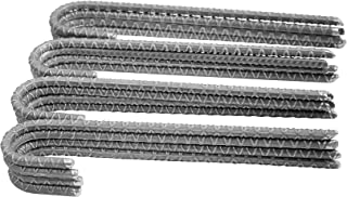 Pinnacle Mercantile 16 Pack Rebar Stakes J Hook Heavy Duty Steel Ground Anchors 12 inch Chisel Point End