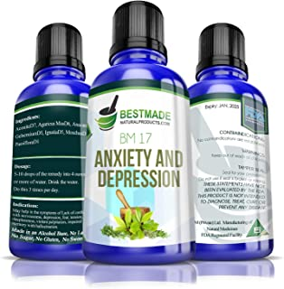 Anxiety and Depression BM17, 30mL, Anxiety Relief Remedy That Promotes Natural Calm & Fights Symptoms of Depression Promotes Better Sleep A Natural Health Supplement for Men Women & Teens