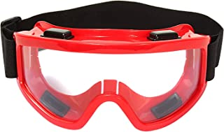 Okayji Generic Adult Motorbike Motocross Atv/Dirt Bike Racing Transparent Goggles with Adjustable Strap (Colours and Designs May Vary)