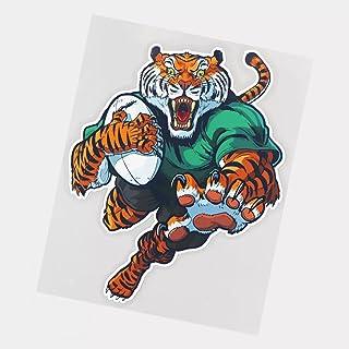 UYEDSR Pegatinas para coche, 2 unidades, diseño de tigre jugando rugby para coche, decoración del coche, 17 x 21,5 cm