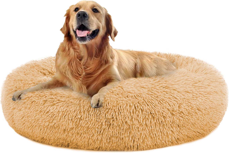 OQQ Dog Beds online shopping Calming Donut Cuddler I Dogs Philadelphia Mall Large Puppy