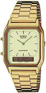 New Casio AQ230GA-9D Digital Analog Dual Time Metal Watch...