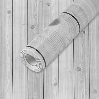 """Wall Paper Gray Wood Contact Paper 17.7""""x 118"""" PVC Self Adhesive Wood Wallpaper Thick Waterproof Easy to Clean Wall Coveri..."""