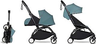Babyzen YOYO2 Stroller & Newborn Set - Black Frame with Aqua Fabrics