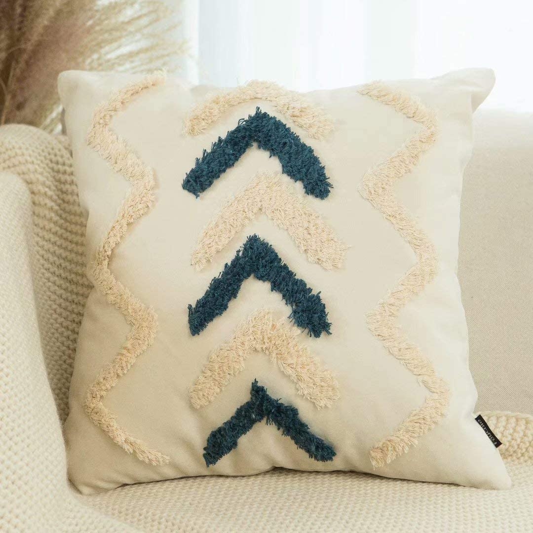 Faycole Geometric Chevron Boho Excellence Covers Pillow Throw Bombing new work Tufted