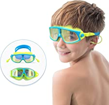 Spinosaurus Kids Swim Goggles Swimming Goggles(Age 3-15 Years), Fashionable, Anti-Fog,UV Protection, No Leaking, Coated Lens,with case and earplugs, HD Swim Goggles for Kids Youth and Teenagers