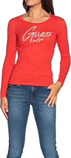 Guess Camisa de Mujer roja de Manga Larga con Cuello Redondo W0YI65JA900-G512