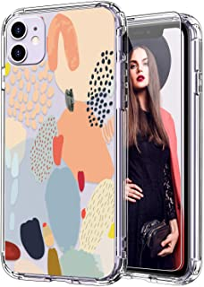 ICEDIO iPhone 11 Case with Screen Protector,Clear with Multi-Colored Painting Patterns for Girls Women,Shockproof Slim Fit TPU Cover Protective Phone Case for Apple iPhone 11 6.1 inch