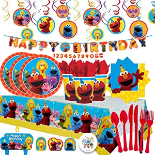 Another Dream Sesame Street MEGA Birthday Party Pack With Decorations For 16 Plates Napkins