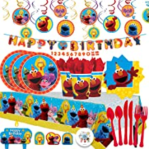 sesame street 1st birthday party supplies