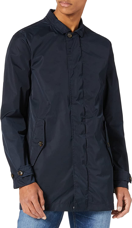 Geox Men's Water-Repellent Sestiere Jacket Navy