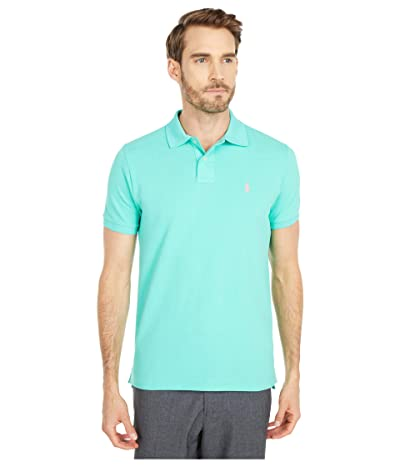 Polo Ralph Lauren Custom Slim Fit Mesh Polo (Sunset Green) Men
