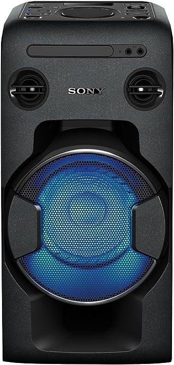 Sistema home audio con funzione mega bass, bluetooth, nfc, usb, nero sony mhc-v11 MHCV11.CEL