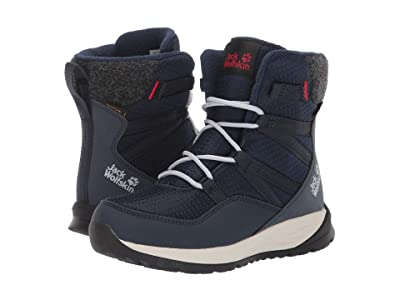 Jack Wolfskin Kids Polar Bear Texapore High (Toddler/Little Kid/Big Kid) (Dark Blue/Off-White) Boys Shoes