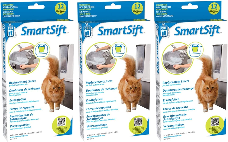 (3 Pack) Catit Design Liner for Sifting Cat Pan Base  12 Liners per Pack