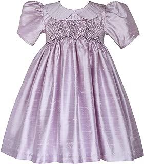Flower Girls Lavender Heirloom Silk Hand Smocked Dress