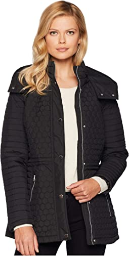 Rosedelle Honeycomb Mini Quilted Car Coat w/ Detach. Hood