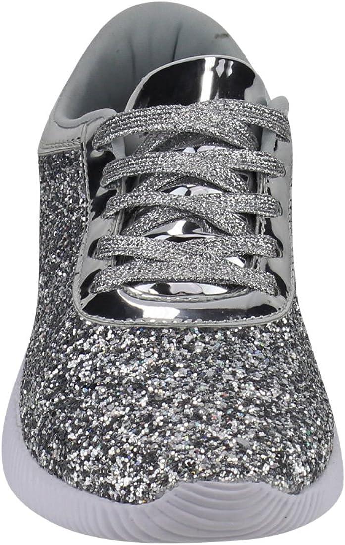 Nature Breeze Rosemarie-01 Womens Metallic Sparkling Bling Glitter Bomb Fashion Sneaker