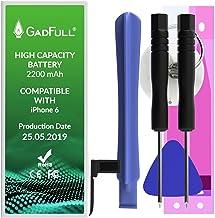 GadFull Batteria ad Alta Capacità compatibile con iPhone 6 | 2019 Data di produzione | incl. Set di riparazione manuale & Kit strumenti Profi | Nuova Batteria Cellulare Extra