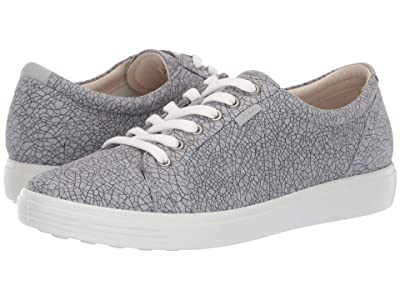 ECCO Soft 7 Sneaker (Concrete Magnet/Concrete Cow Nubuck/Cow Leather) Women