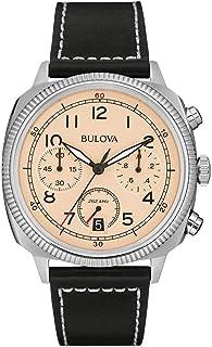 Bulova - Militar - Reloj UHF para Hombre con Esfera analógica, Correa de Piel