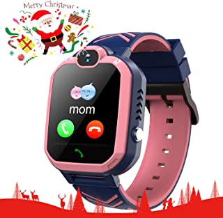 Kids Smart Watch IP67 Waterproof Smartwatch for kids SOS Camera Voice Chat Anti Disturb Mode Security Zone Math Game Kids-GPS-Waterproof-Smart-Watch Birthday Gift for Girls and Boys Age 6-14 yrs(Pink)