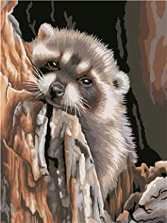 Painting by Numbers Kit Cute sloth animal DIY Oil Painting for Kids Adults Beginner Drawing with Brushes on Canvas Home De...