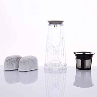 Geesta Water Filter Replacement Starter Kit for Keurig K250 with 2 Charcoal Water Filter Cartridges, 1 Water Filter Holder and 1 Reusable K Cup