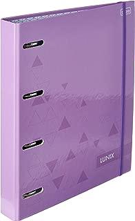 Caderno Argolado Cartonado Universitário com Elástico Lunix Roxo 80 Folhas,Tilibra - 1 un