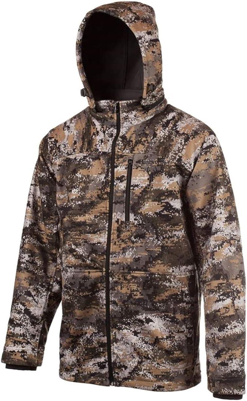 Hood Huntworth Mens Mid Weight Windproof Soft Shell Jacket |Disruption Camo