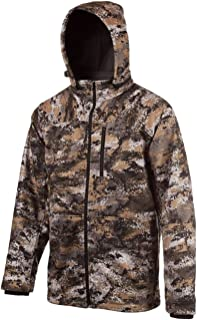 Image of Huntworth mens Mid Weight Windproof Soft Shell Jacket (Hood)|disruption Camo