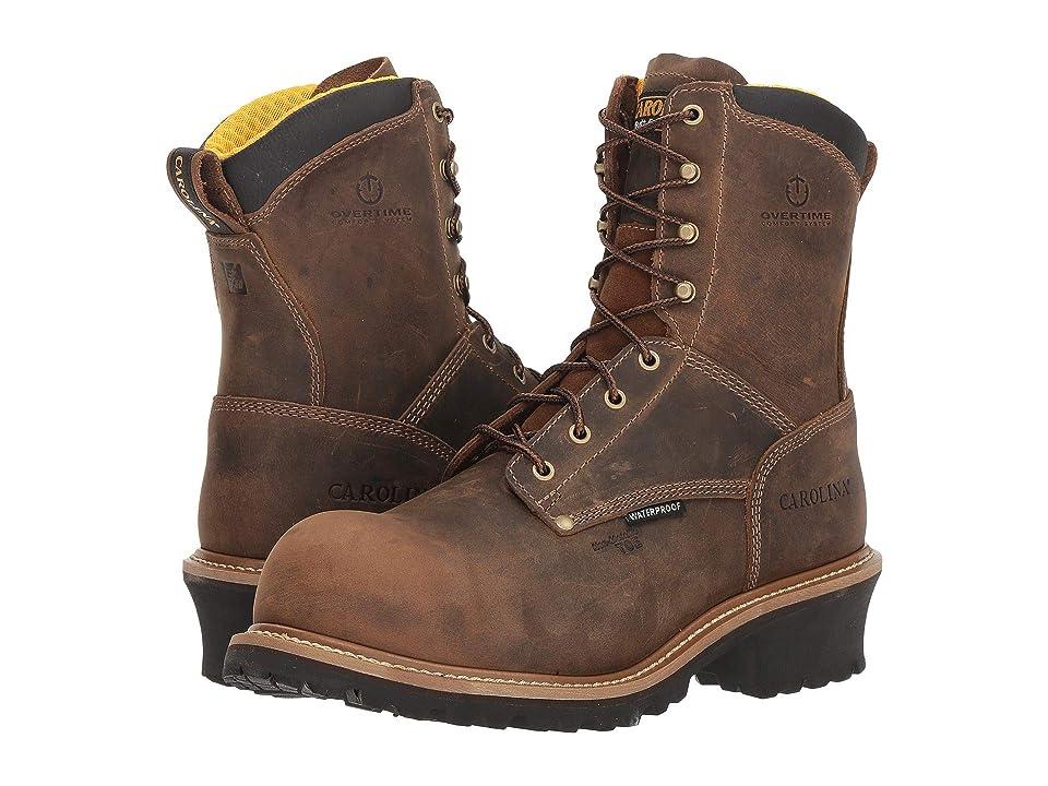 Carolina 8 Waterproof Composite Toe Logger CA9852 (Crazy Horse Brown) Men