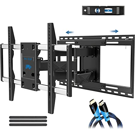 """Mounting Dream TV Mount with Sliding Design for Most 42-70 Inch TVs, Easy for TV Centering on Wall, Full Motion TV Wall Mount Fits Most Smart OLED TVs - Easy to Install on 16""""~ 24"""" Stud, Extend to 19"""""""