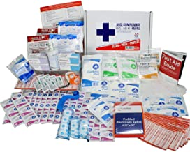 OSHA & ANSI First Aid Kit Refill/Upgrade, 50 Person, 196 Pieces, ANSI 2015 Class B - Includes Splint, Tourniquet, Tools, Single dose and More: Fill Your kit or use to Upgrade to Current regulations