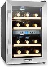 Klarstein Reserva - Cave à vins, Cave à vin réfrigérante, Capacité de 34 litres, 12 bouteilles, 4 étagères amovibles, Comm...