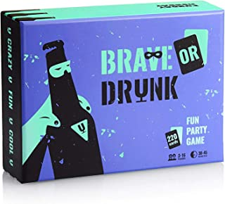 Brave or Drunk - A Crazy Party Drinking Game for Adults, Full of Fun, Humor, and Sarcasm! You'll Do Great - You are a Superhero!