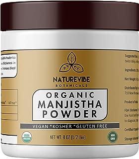 Manjistha Powder (8 Oz) - USDA Organic Rubia Cordifolia - Promotes Healthy and Clear Skin