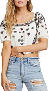 Free People Aurura Embroidered Top, Size Small - White