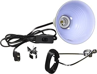 Fluker's Repta-Clamp Lamp with Switch for Reptiles Black, 5.5-Inches