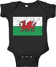 Amdesco Wales Flag Welsh Infant Bodysuit