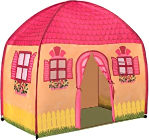 Toysical Play Tent - Great for Indoor Playhouse Tents for Kids with Lifelike House Design - Easy Assembly - Birthday and Christmas Toy Gift