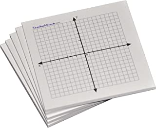 Sticky Note Mini Graph Pads - 5 Count - Graph Paper Sticky Notes 20 x 20 Four Quadrant