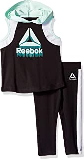 Reebok Girls' Hooded Athletic Tank Top and Pull-on Legging Set